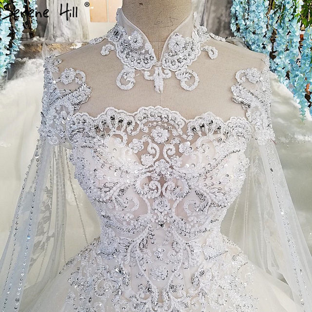 Online Shop 2018 White High-end Luxury Lace Wedding Dresses High ...