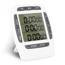 Multifunctional Kitchen Cooking Timer 3 Display Channels Electronic Countdown Function Timers Time Counting Device #0528