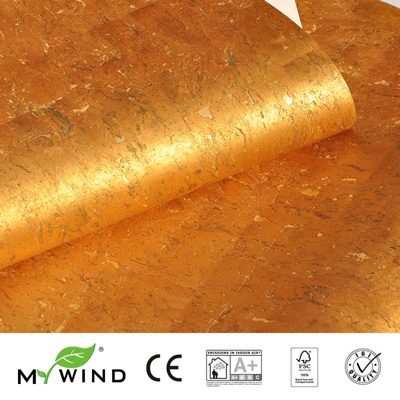2019 MY WIND Gold HOT Luxury Decoration Wallpapers Luxury 100% Natural Material Safety Innocuity 3D Wallpaper In Roll Home Decor