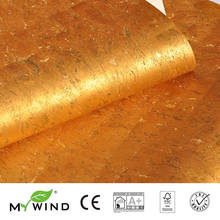 2019 MY WIND Gold HOT Luxury Decoration Wallpapers 100% Natural Material Safety Innocuity 3D Wallpaper In Roll home Decor