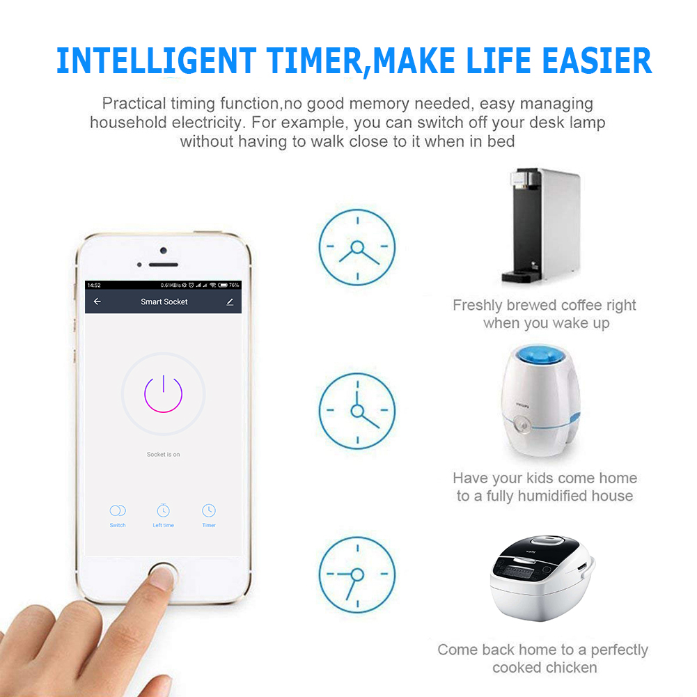 HTB1SOiCaLfsK1RjSszbq6AqBXXat - EU US UK Voice Remote Control Home Plug Remote Work with Google Home Alexa IFTTT Smart Plug Wifi Smart Socket Power Monitor