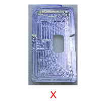 LCD Remove Glue Polarizing Film Removing Mold For IPhone X IPhoneX OCA Removing Holder Metal Mold