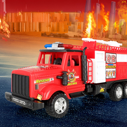 Big Size Pull Back Car Model Fire Truck/Fire Engie,Oil Tank,Mixer Car Children's Inertial Car Toys for Kid Toddler Gift Birthday