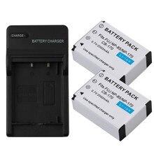 цена на 2Pcs 3.7V 2000mAh NP-85 NP 85 Camera Battery + LCD USB Charger for Fujifilm FinePix S1 SL240 SL260 SL280 SL300 SL305 SL1000