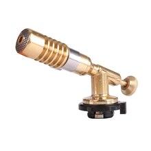 Газа газовая горелка-пистолет Blowtorch Медь пламени Бутан-Горелки Зажигалка отопление сварки для открытое Дачное барбекю