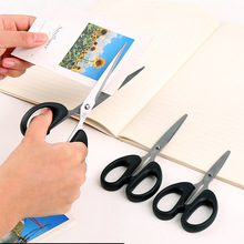 FASOTY Household Stainless Steel Scissors Student Children'S Handmade Paper-Cutting Knife Mini Art Black Small Scissors steel strip drawshave machinery household paper scraper