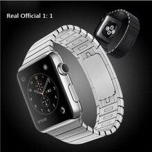EN la Acción! correa de acero inoxidable 316l pulsera del acoplamiento para apple watch, original 1:1 reloj banda para apple watch band enlace