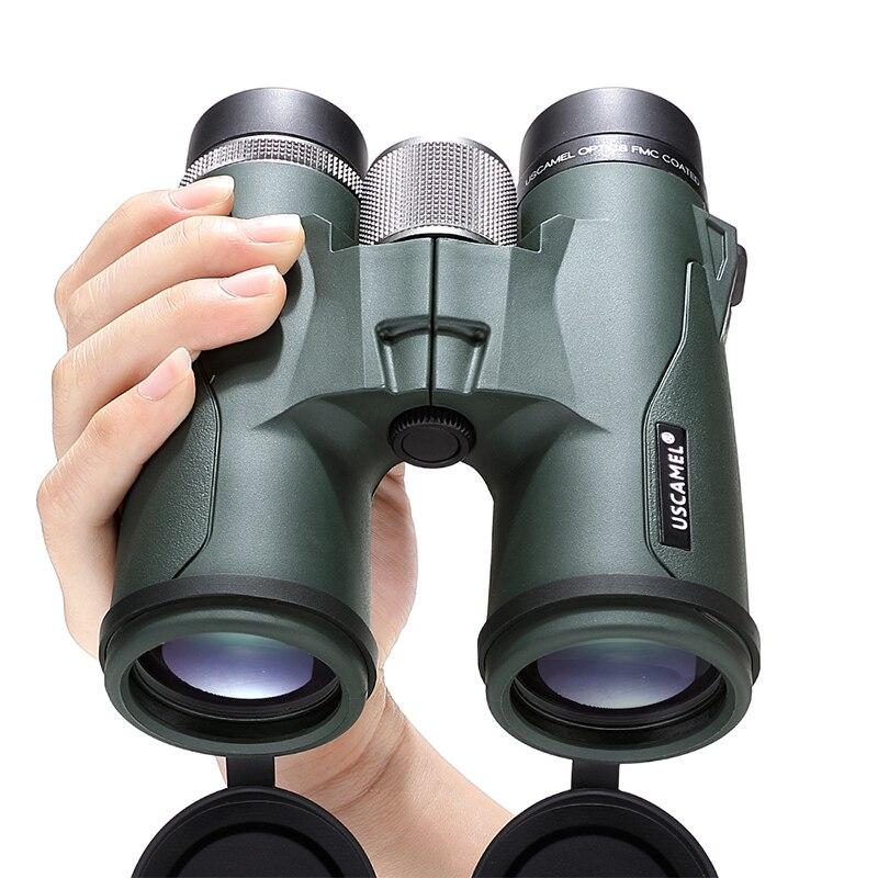 USCAMEL jumelles 10x42 militaire HD haute puissance télescope professionnel chasse en plein air, vert armée