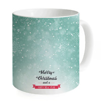 Creative Blue Snow Ceramic Coffee Mugs Water Cups Mugs Milk Tea Cup Coffee Mug Home Merry