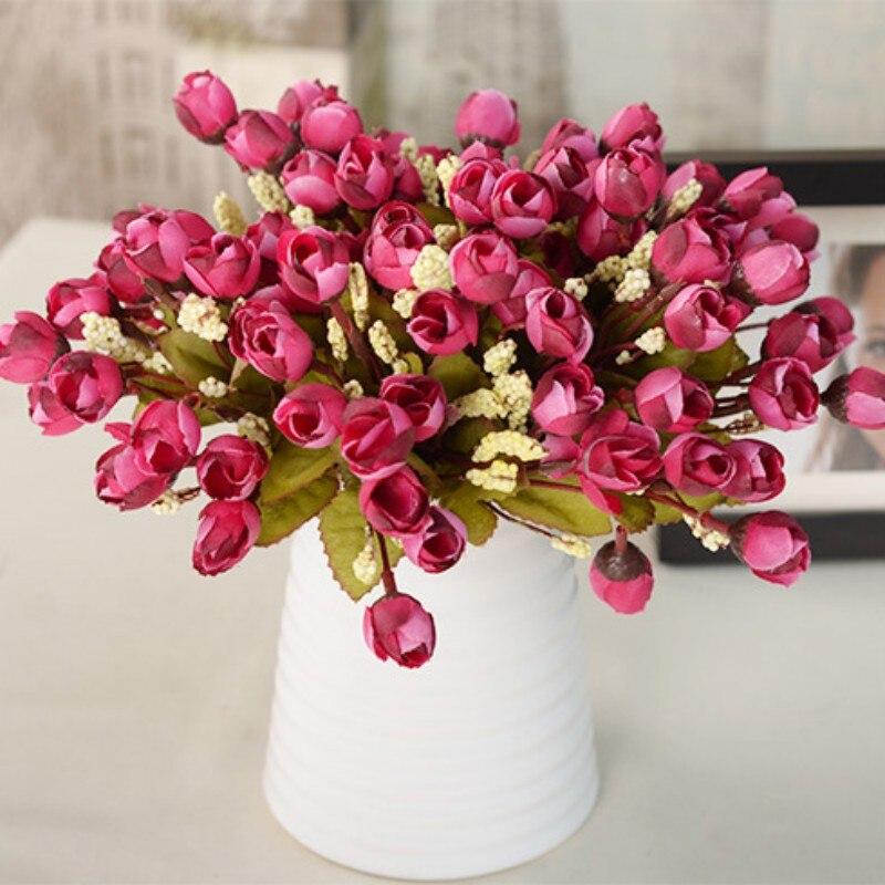 magnolia floral de la boda home party decor 15 cabezas de flor de la camelia peony - Flor Decor