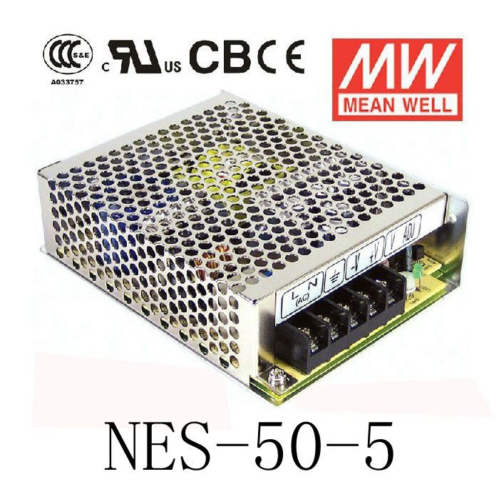 Original GOOD quality  MEAN WELL power supply unit ac to dc power supply NES-50-5 50W 5V 10A MEANWELL meanwell 5v 130w ul certificated nes series switching power supply 85 264v ac to 5v dc