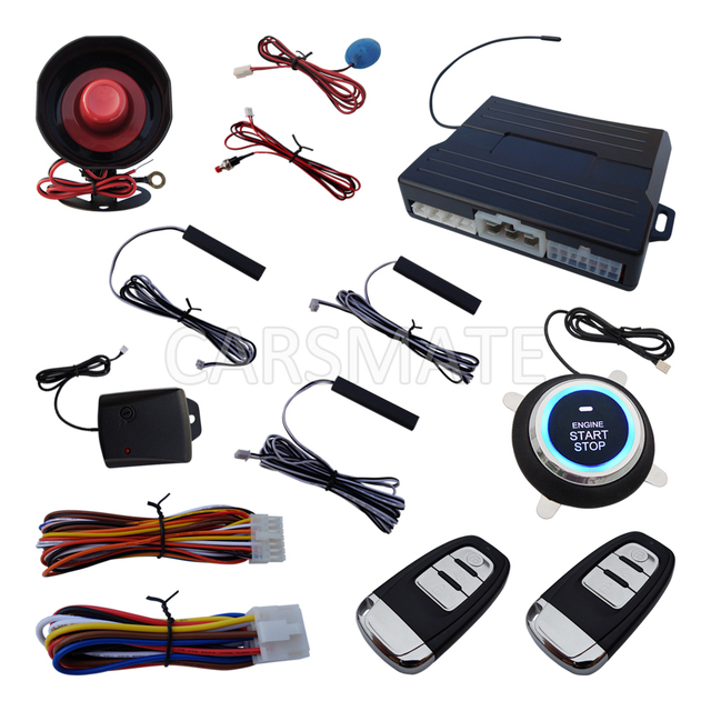 High Quality Pke Car Alarm System With Remote Engine Start Push Automatic Owner Identify Shock