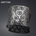 AMYYAN Hollow Geometric Stainless Steel Bangle & Bracelet for Men Women Chunky Bracelet Jewelry A10025