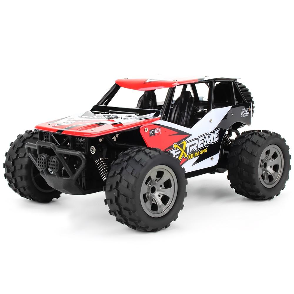 Gran oferta de Control remoto de coches RC de juguete 2,4G 1/18 18 km/H RC camiones monstruo volador de juguete 260 Motor de fuerte potencia genial RC coches