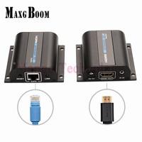 Lkv372a HD 1080 P HDMI Extender TX/RX 60 M avec IR sur CAT6 RJ45 Ethernet Desteği de kablo HDMI 3D HDTV DVD lecteur dökün