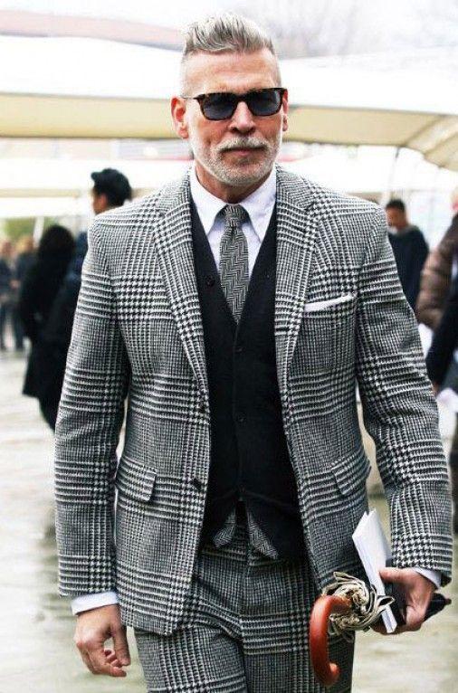 Vest Boys Vintage Gray Plaid Suits 3 Pieces Jacket Pants
