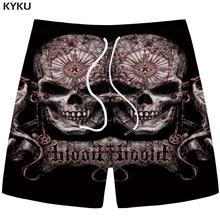 hot deal buy kyku brand skull shorts men graphics casual shorts cargo black 3d printed shorts space hip hop mens short pants 2018 summer new