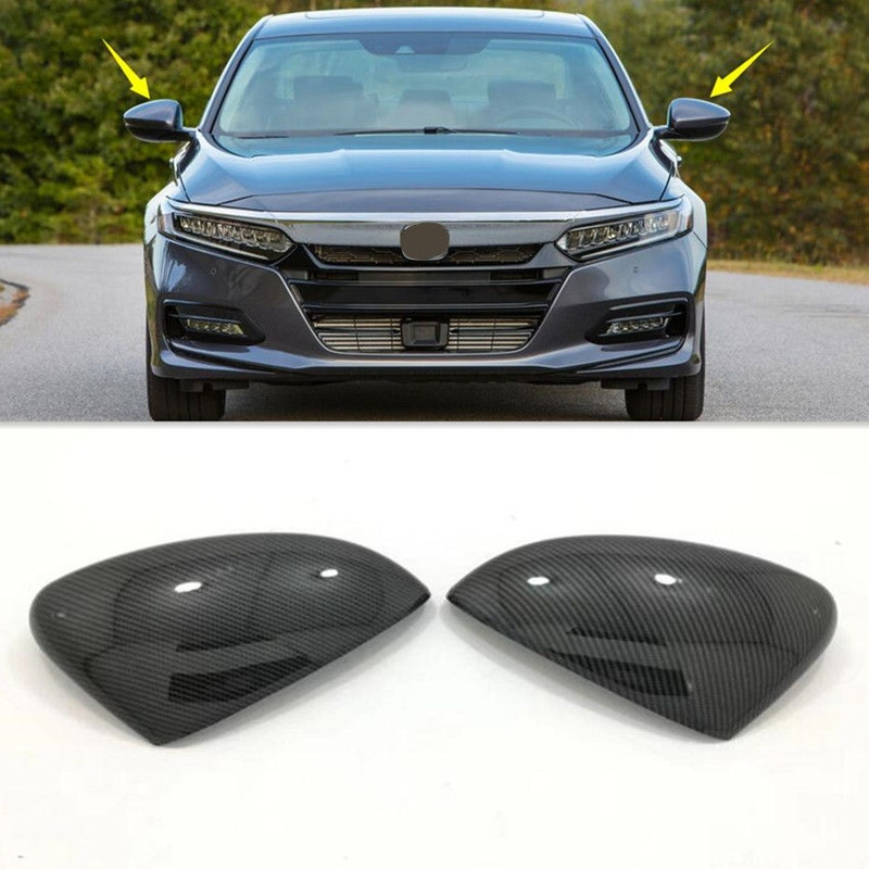 Carbon Fiber Style Side Mirror Cover Trim for Honda Accord 2018