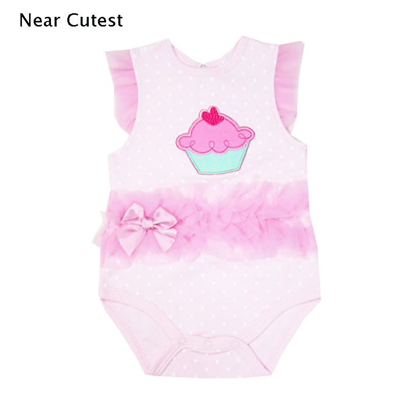 2017 Summer Floral Sleeveless O-Neck Cotton Newborn Baby Girl Clothes Baby Romper Dress