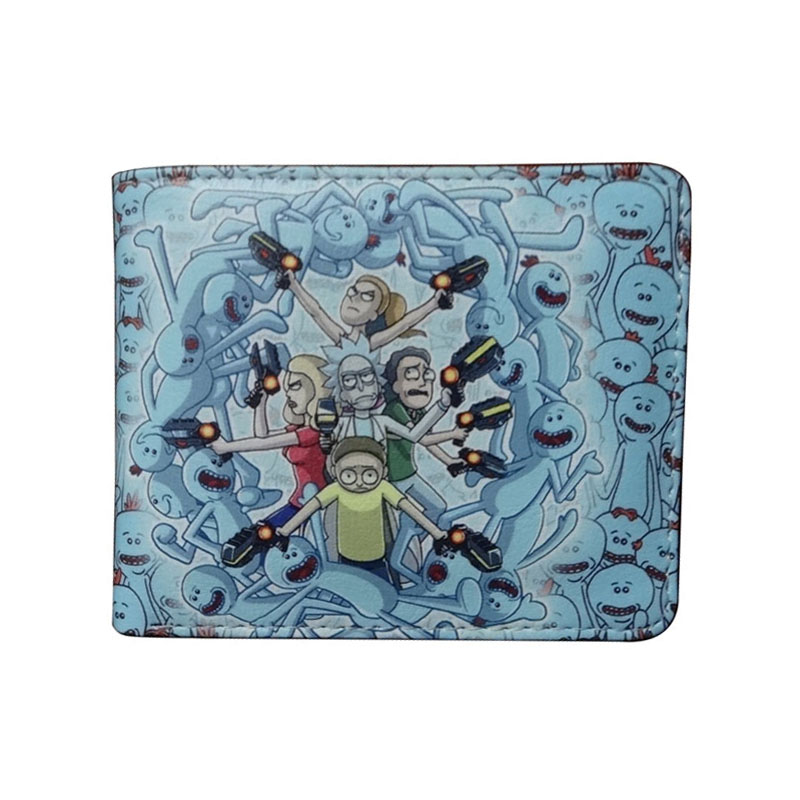 Hot Selling Rick and Morty Wallet Cartoon Anime Purse Dollar Price carteira Fashion Casual Leather Folded Short Wallets baellerry small mens wallets vintage dull polish short dollar price male cards purse mini leather men wallet carteira masculina