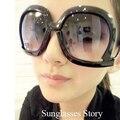 Mujeres de La Moda Retro de Gran Tamaño Gafas de Sol Cuadradas Pierna Doblada Back Frame Gafas de Sol Luneta De Soleil KJ2
