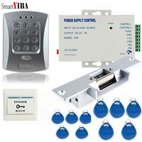 SmartYIBA Rfid Door Lock Access Control Kits Automatic Electric Door Control Units Power Supply Control Exit Release Gate Opener