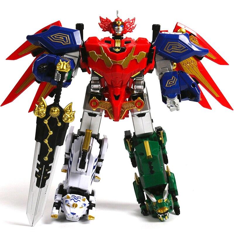 Подарки для детей игрушки 5 шт./компл. фигурку Дракон трансформации Dinozord робота-динозавра Ranger собраны Megazord