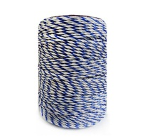 Electric Fence Poly Wire White Blue Polywire With Steel Wire Poly Rope For Horse Fencing Ultra