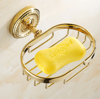 Hot Sale Gold Finishing Soap Net Dishes Soap Holder Bathroom Accessories Sanitary Wares High Quality Bathroom