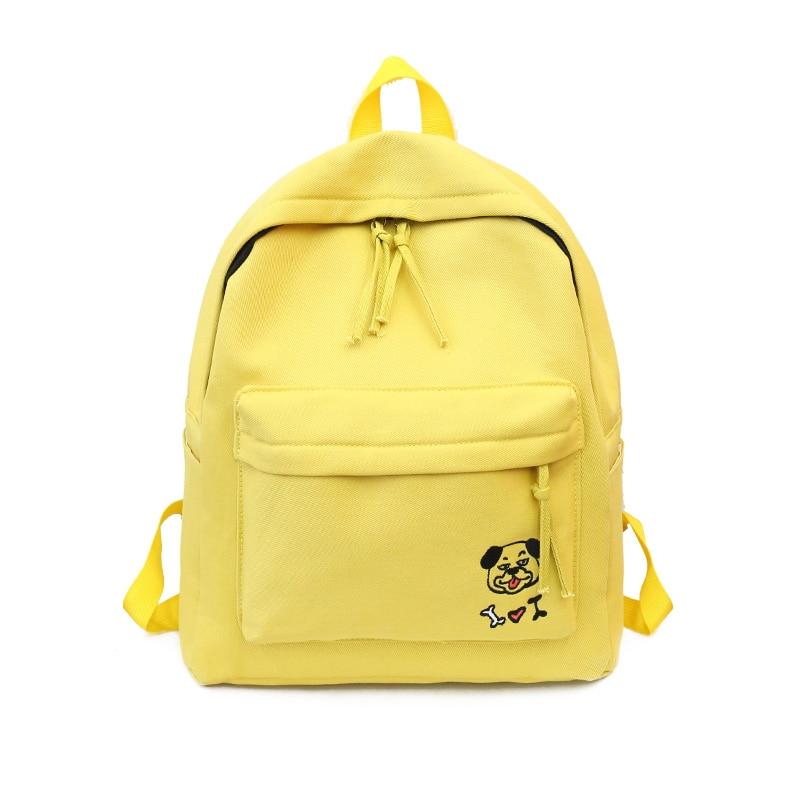 1PC Cute Female Travel Bag For Teenage Girls School Bags Cartoon Print Backpack Women Canvas Backpack 476 smeg fl144p