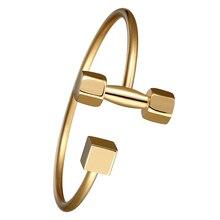 2016 New fashion stainless steel Bracelets & Bangles Trendy Women Fitness Prayer Dumbbell Bracelet For Men