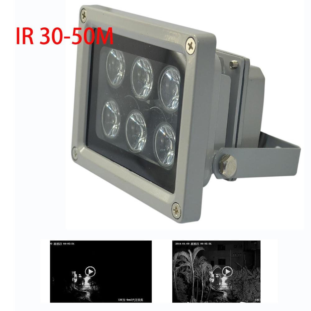 Array IR Illuminator Infrared Lamp 6pcs Array Led Ir Light 10 30m Outdoor Waterproof For CCTV