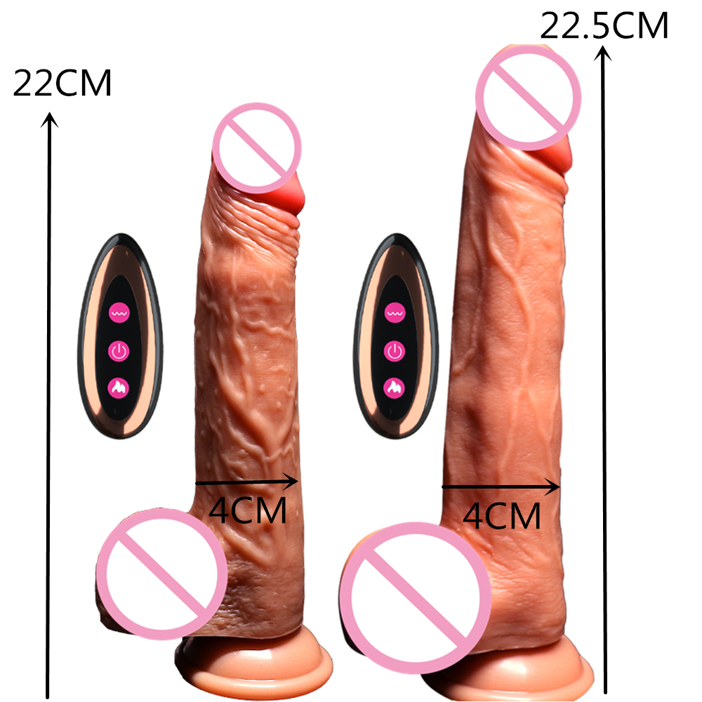 Wireless Realistic Penis Big Huge Dildo Vibrator Electric Heating Sex Toys for Women, USB Rechargeable