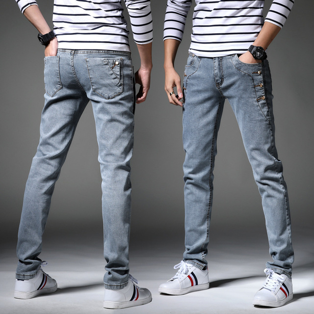 13 Style Design Denim Skinny Jeans Distressed Men New 2019 Spring Autumn Clothing Good Quality 2
