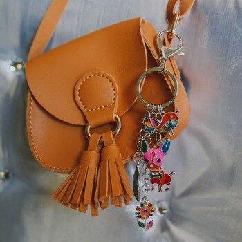 bonsny-enamel-metal-chihuahua-dog-bird-flower-house-key-chain-key-ring-bag-handbag-charm-man-key-holder-jewelry-for-women