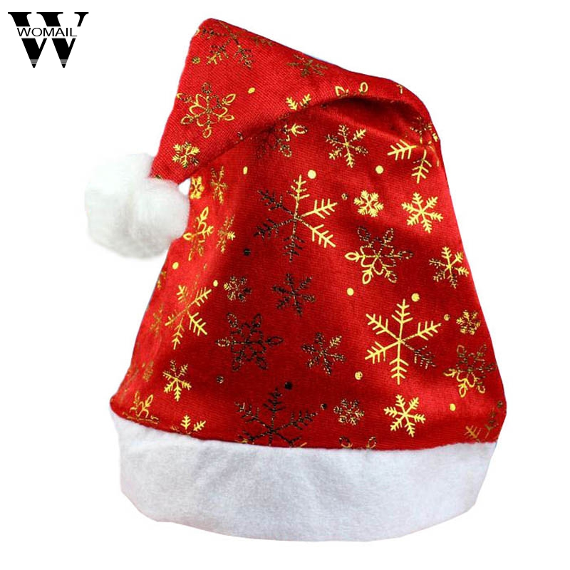 2017Hat Christmas holiday Christmas Santa gift non-woven snowflakes Hat for Christmas Party oc13
