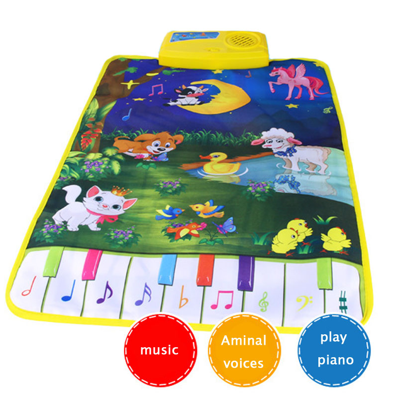 Baby Piano Mats Music Carpets  Newborn Kid Children Touch Play Game Musical Carpet Mat Animal Moon Blanket Rug Toys gift animal sassy seat doorway jumper 5 toys with musical play mat