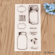 Love bottle Transparent Clear Silicone Stamp seal for DIY Scrapbooking photo Album Decorative Clear Stamp Sheets