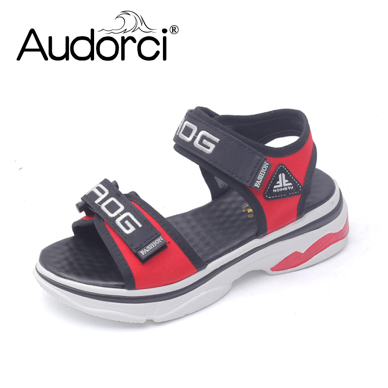 Audorci 2018 Fashion Womens Outdoor Walking Sandals Woman Casual Flats Shoes Female Summer Beach Comfortable Shoe Size 35-40