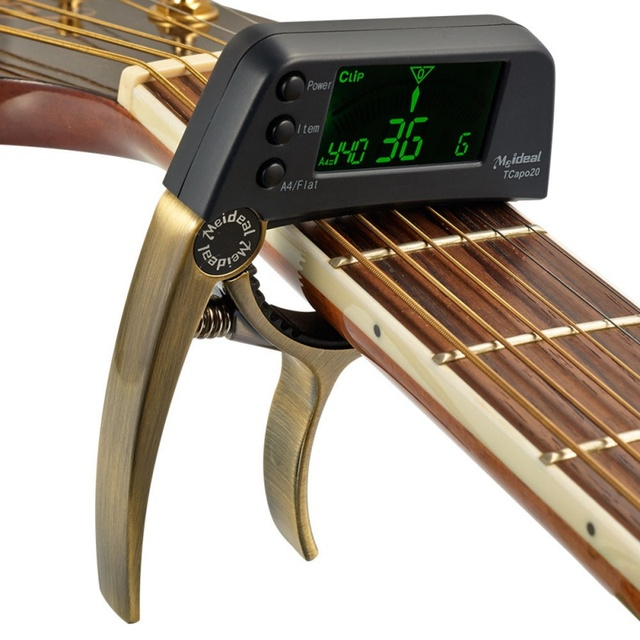 Professional Guitar Tuner Electric String Acoustic Gitar Bass Automatic Pro Capo