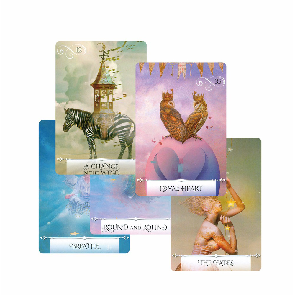2018 Knowledge Oracle Cards 52 Cards, Guidance English Mysterious Fortune Tarot Cards Game For Girls