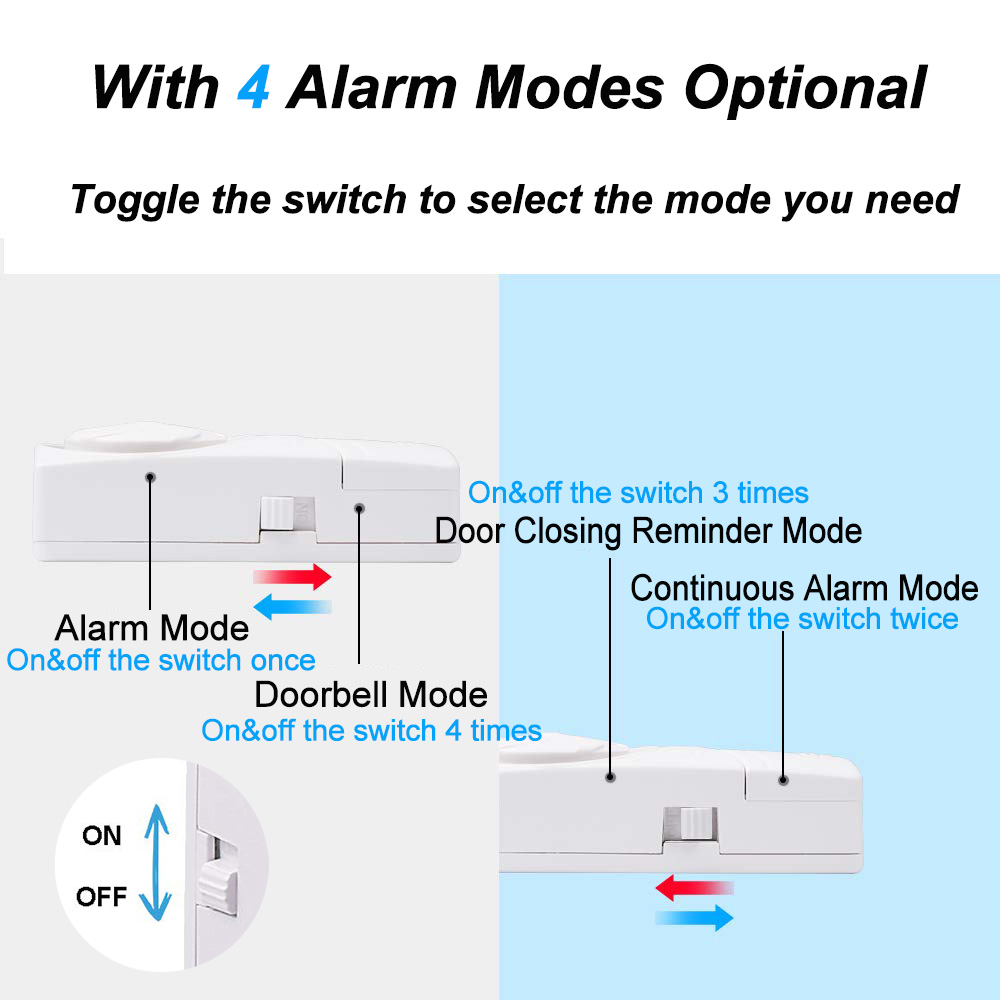Image 3 - Wireless Door Magnetic Sensor Alarm Door and Window Open Close Reminder Alarm Kit for Supermarket Convenience Store Refrigerator-in Sensor & Detector from Security & Protection