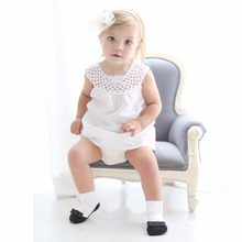 1-3 Years Baby Cute Girl leather shoes black ribbon bow main Anti Slip Boots Ankle Socks(China)