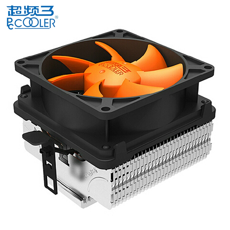 PCCOOLER Q82 CPU Cooler Cooling Fan Quiet Hydraumatic Heat Sink Cooling Fans for Intel LGA775/LGA115X for AMD AM2 AM2+ AM3 akasa 120mm ultra quiet 4pin pwm cooling fan cpu cooler 4 copper heatpipe radiator for intel lga775 115x 1366 for amd am2 am3