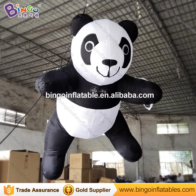 Customized decorative 3 meters giant inflatable panda promotional blow up hanging panda replicas for display toysCustomized decorative 3 meters giant inflatable panda promotional blow up hanging panda replicas for display toys