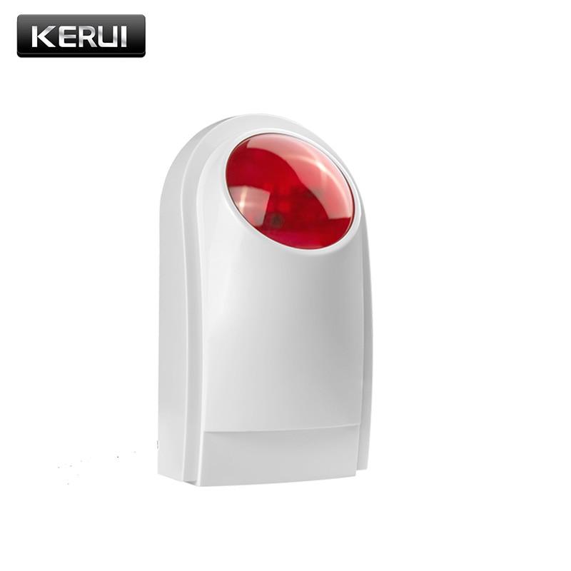 imágenes para Nueva Externo Inalámbrico de Flash LED de Luz estroboscópica sirena de Alarma del sensor trabajar Con PSTN GSM SMS Inicio Seguridad Antirrobo Voz Inteligente alarma