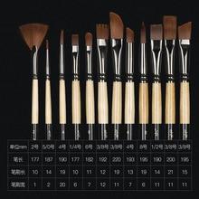 12 Pcs/set many types nylon hair of painting brush Iron box Artist Paint Brushes Set for Watercolor Oil Acrylic Gouache Painting
