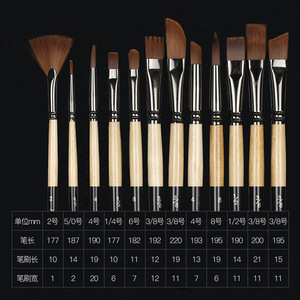 Image 1 - 12 Pcs/set many types nylon hair of painting brush Iron box Artist Paint Brushes Set for Watercolor Oil Acrylic Gouache Painting