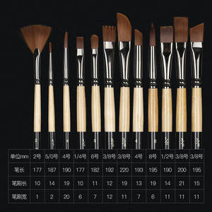 12 Pcs/set many types nylon hair of painting brush Iron box Artist Paint Brushes Set for Watercolor Oil Acrylic Gouache Painting