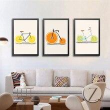 Creatively Bike Fruit Canvas